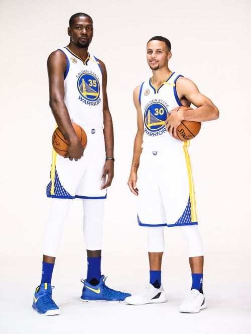 splash-brothers:Steph and KD || 2016 Warriors Media Day