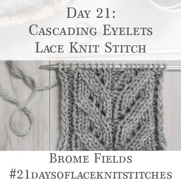 Lace Knitting Stitch Of The Month - August The Fern