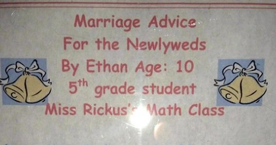 This Is The Best Marriage Advice You'll Ever Find. It Was Written By A 10 Year Old.