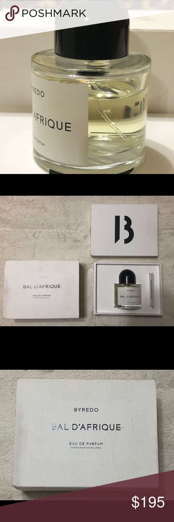 Byredo Bal D'Afrique Eau De Parfum 100% Authentic Byredo Bal D'Afrique 100ML Eau De Parfum. The bottle is about 85% full. Since I've sprayed this perfume several times, I'm selling it for cheaper than what you'd pay in store. With tax, I paid about $250. Reasonable offers will be considered. Byredo Other
