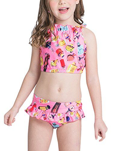 230dffa5fa11d Payasen Girls Swimwear Kids Two Piece Sleeveless Printed Swimsuit Tankini