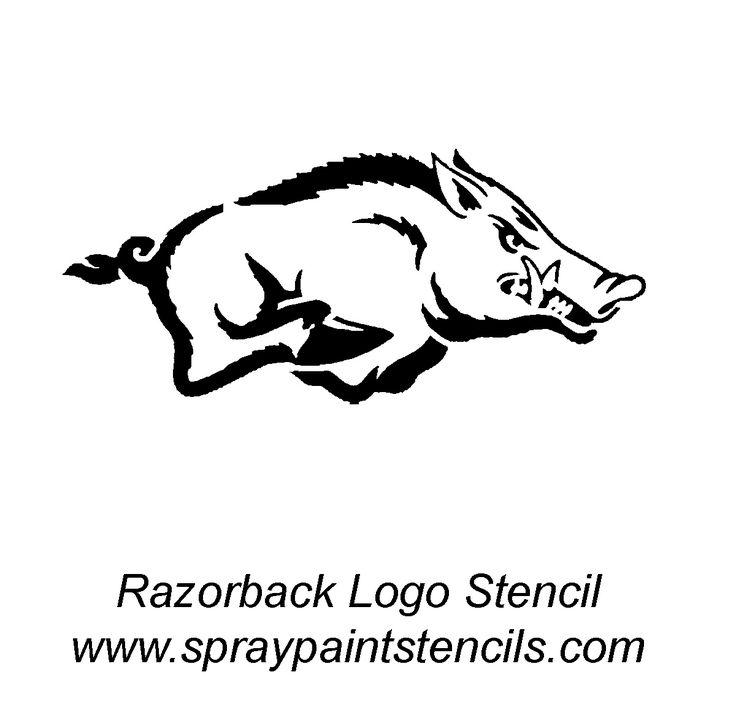 Razorback stencil