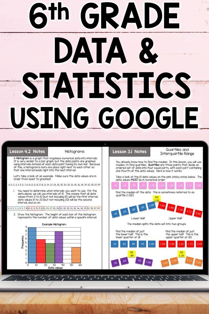 6th Grade Math Data and Statistics Curriculum Unit 7 Using Google   Free  math lessons [ 1104 x 736 Pixel ]