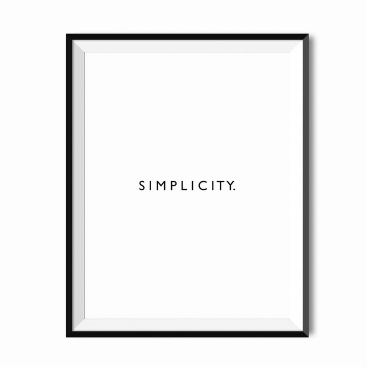 Plakat - Simplicity