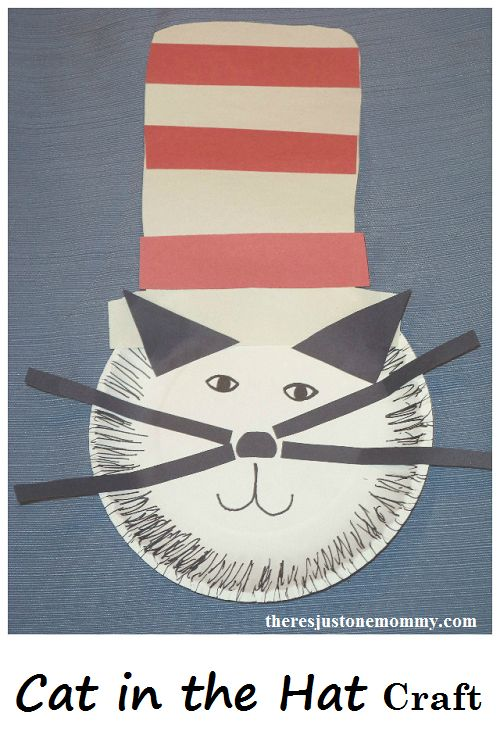 Cat in the Hat — Paper Plate Craft