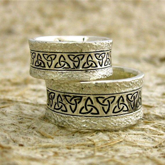 Sterling Silver Custom Celtic Knot Wedding by AdziasJewelryAtelier, $440.00
