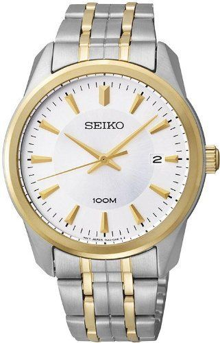 Seiko 3-Hand with Date Stainless Steel Men's watch #SGEG08 Seiko. Save 55 Off!. $90.00
