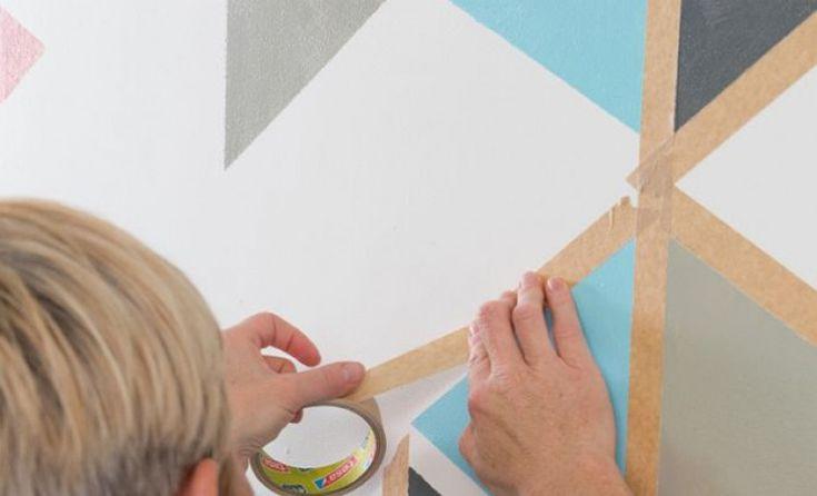 Tutoriel: peindre des motifs géométriques sur un mur   – deco