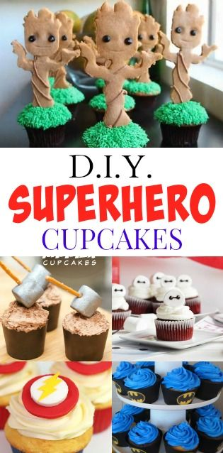 Hungry Harps: 9 DIY Superhero Cupcakes + Wizard World Comic Con {Sacramento}