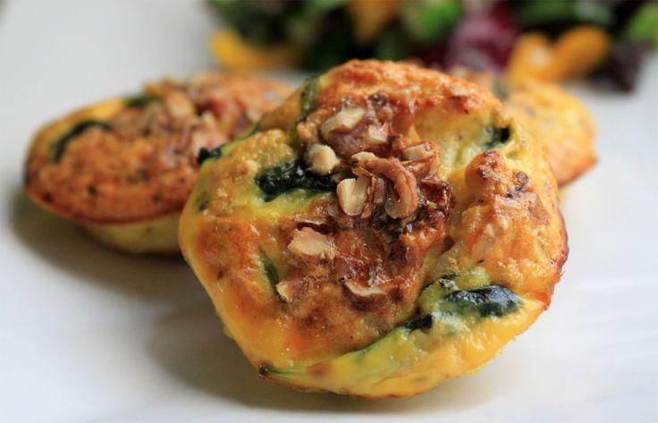 Ægge muffin med spinat og parmaskinke2
