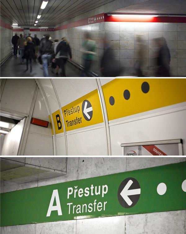 Photos of the Prague metro navigation by Maxim Alimkin, via Behance