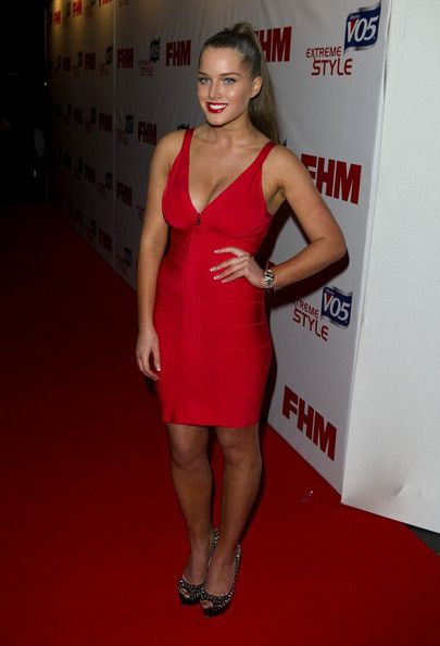 Helen Flanagan Lookbook: Helen Flanagan wearing Cocktail Dress (5 of 9). Helen Flanagan strutted her stuff at the FHM Sexiest Women in the World Awards in a skintight red dress.