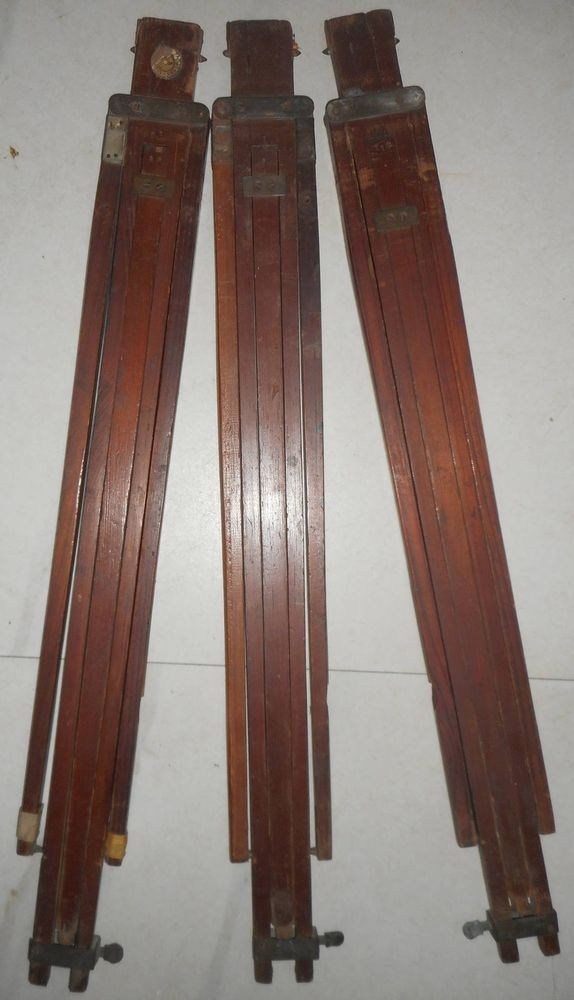 Early wooden Camera TRIPOD 100 years old 56 inch high.S2011