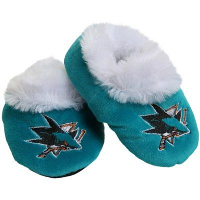 San Jose Sharks Baby Bootie Slippers - Teal