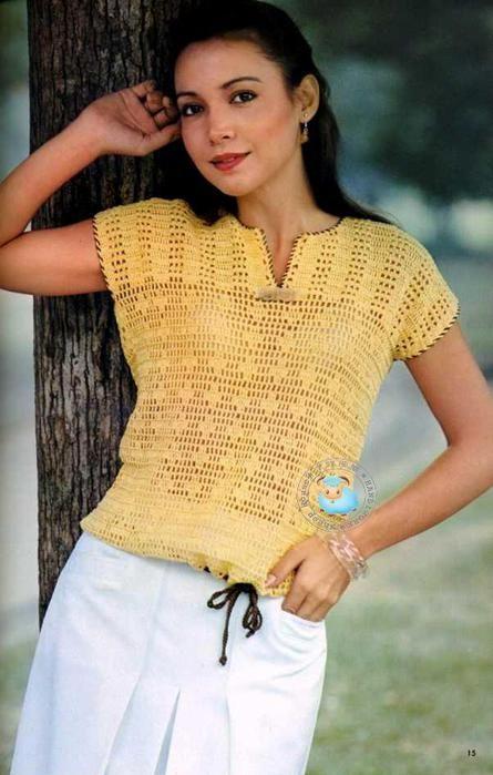 SUMMER chiuleț bluze și tricouri. Câteva idei. Discuție despre LiveInternet - Serviciul Rusă Online Zilnice