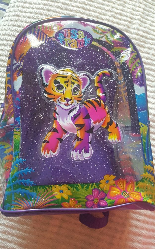 Vintage LISA FRANK Tiger Mini Backpack  #LisaFrank