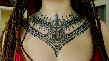 best 25 women chest tattoos ideas on pinterest chest. Black Bedroom Furniture Sets. Home Design Ideas