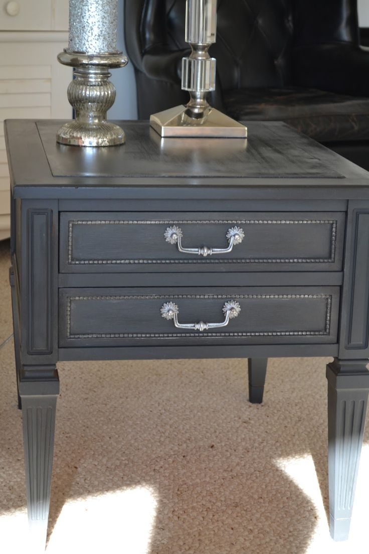 annie sloan paint graphite | House of Babs: End Table Makeover - Annie Sloan Graphite Chalk Paint