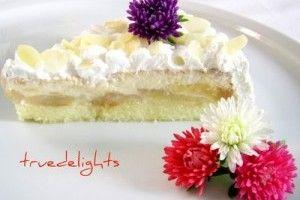 Tort cu crema de zahar ars si mere - Culinar.ro