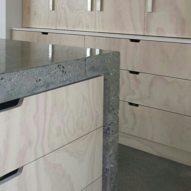 Concrete and limed ply by @alterecodesign