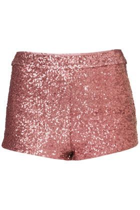 Topshop Pink Sequin Knicker Shorts. I would love to wear these one day when I'm smaller. =)