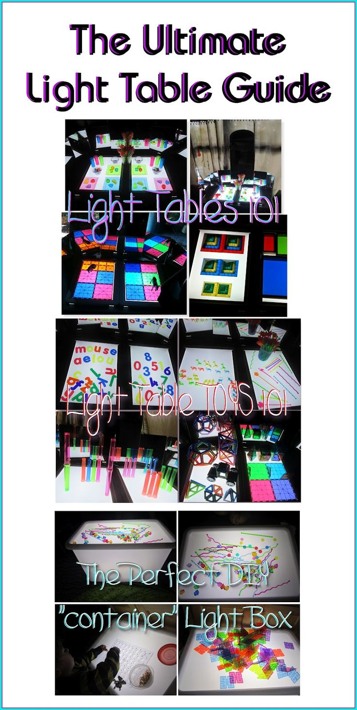 The Ultimate Light Table Guide:   what are they for, what to do with them, what toys to get for them, and DIY light tables and light boxes!!