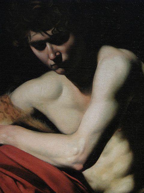 "Detail from Caravaggio's ""Saint John The Baptist""."