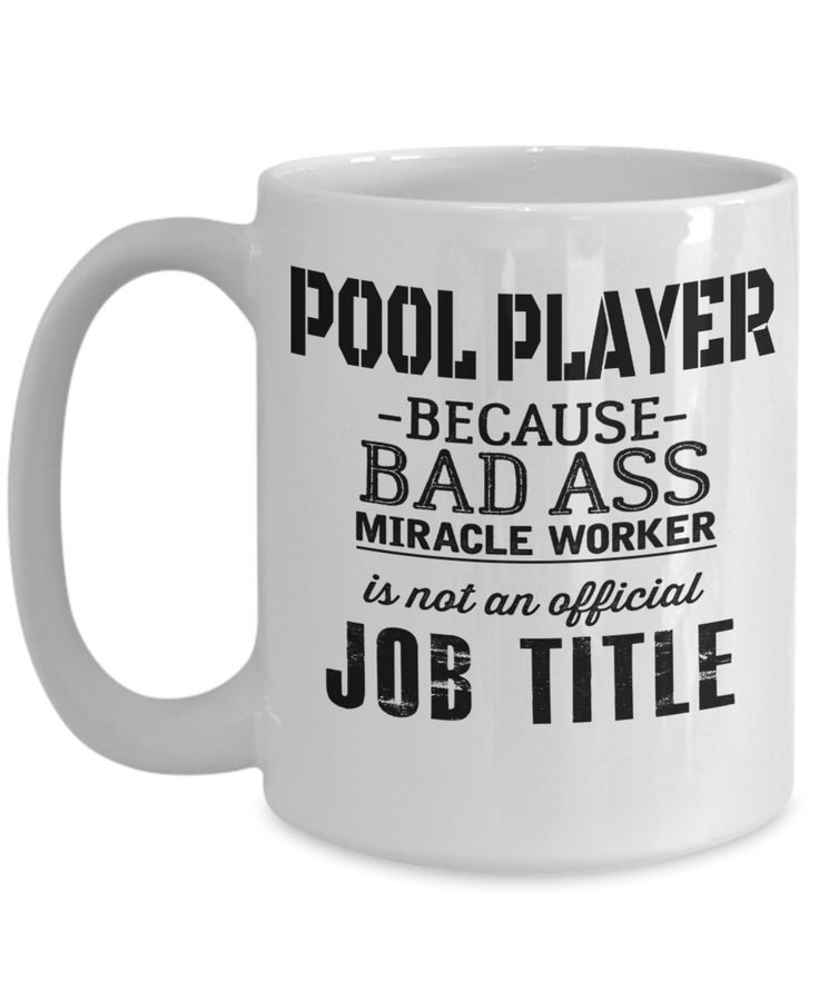 Chrismas Gift – Pool Player Because A BadAs* Miracle Worker Is Not An Official Job Title