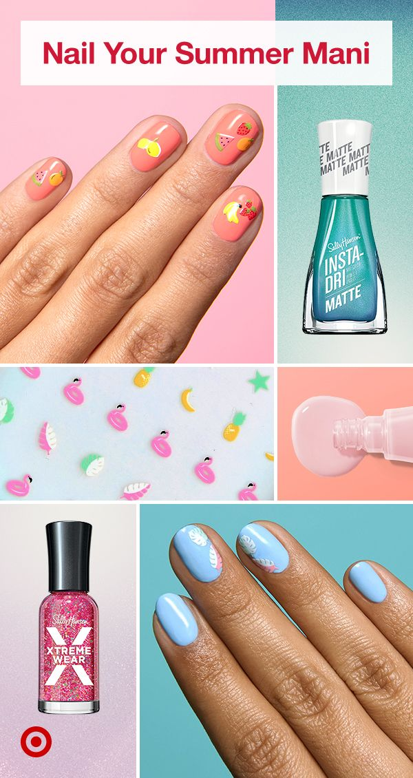 Summer Up Your Nails With Playful Nail Polish Ideas Colors Nail Art Decals For Easy At Home Manis Makeup Nails Designs Pretty Acrylic Nails Nails