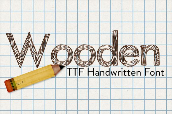 Check out Wooden Hand Drawn Font by Polka Dot Pixels on Creative Market