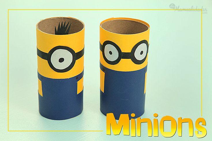 Cómo hacer Minions reciclando tubos de cartón