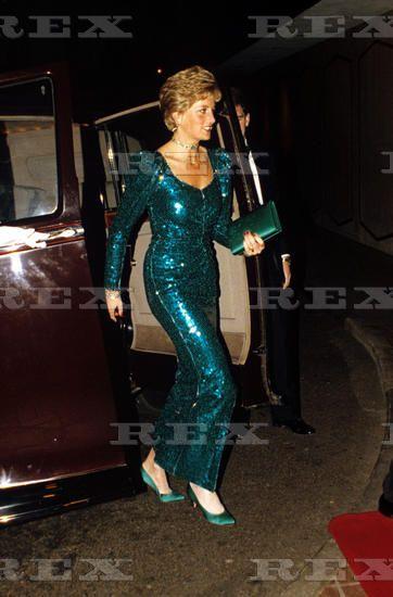 1990--British Royalty at the Pink Diamond Charity Ball, Royal Lancaster Hotel, London, Britain - 1990 Princess Diana 1990