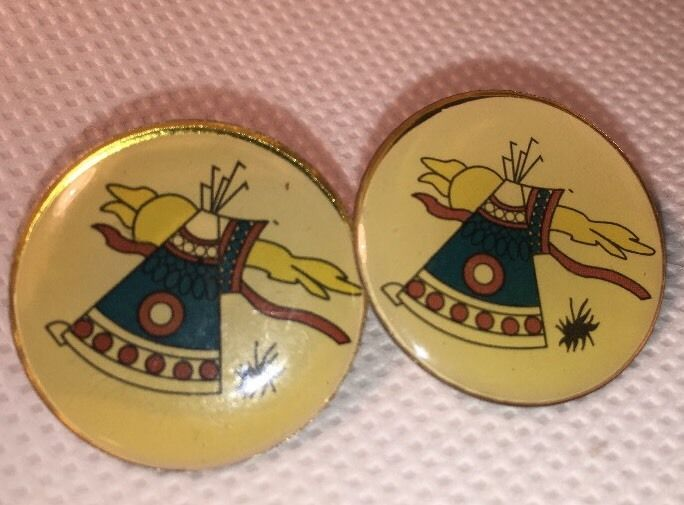 2 Tiyospaye Club Lapel Pin St Josephs School Chamberlin South Dakota Teepee Sun  | eBay