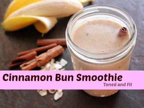 Cinnamon Bun Smoothie | Toned & Fit