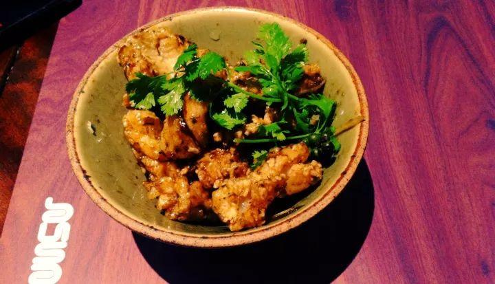Ginger Calamari in Busaba Eathai  - London
