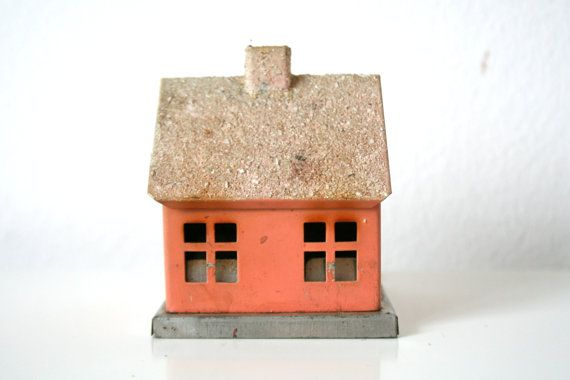 Very cute german vintage christmas incense burner for Really cute houses