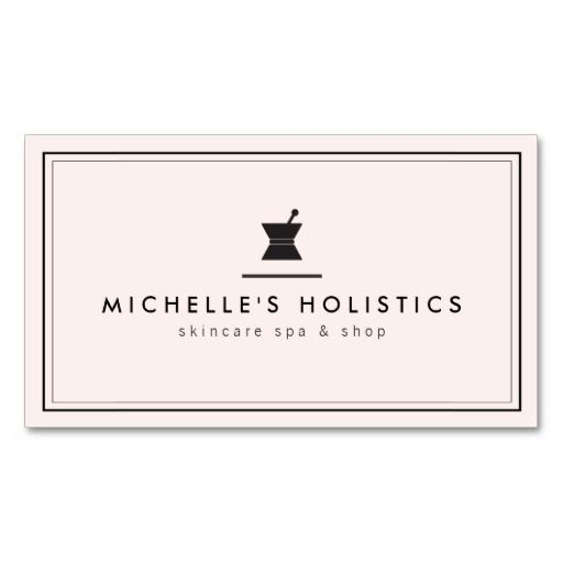 Classic Apothecary Holistic Medicine Pale Pink Business Cards - clean and minimal design for naturopaths, skin care, holistic medicine, herbalists and more. Personalize the front and back with your own info and see an instant online preview. Easy to order and fast shipping. High quality card stock.