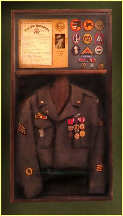Another nice shadow box idea. ww2-jacket.jpg : shadow box military uniform - Aboutintivar.Com