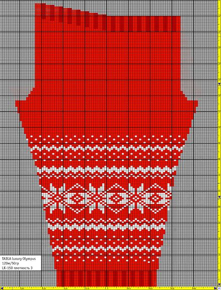 Сильно жаккардовые рейтузы (c) + МК: ru_knitting