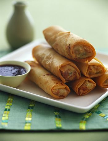This recipe for Chinese egg roll wrappers, also known as spring roll wrappers, is the base in which are sorts of delectables are rolled and fried.