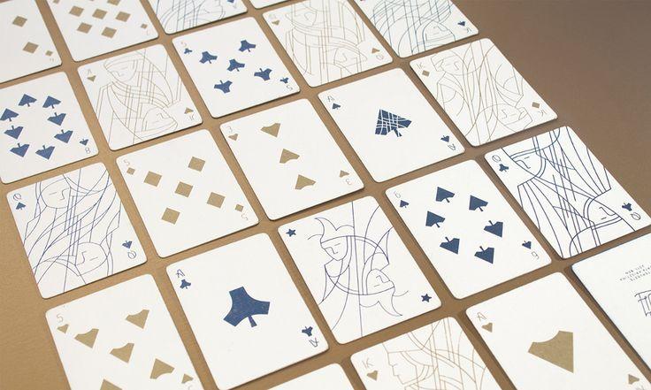Cartes à jouer épurées par Krisztina Berta