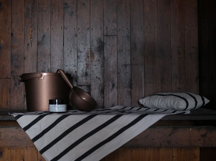 Orthex copper coloured sauna products