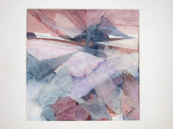 Seasons (Winter) - watercolor on rice paper #art #painting