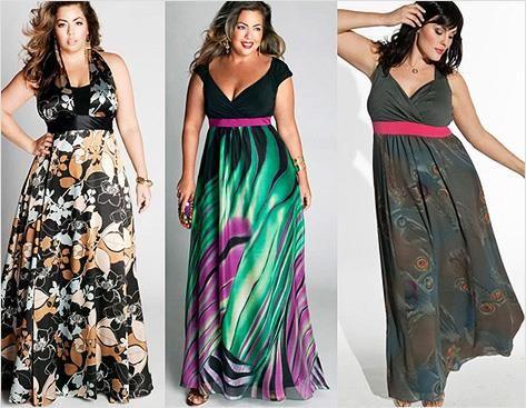Платье для полных женщин шелковые