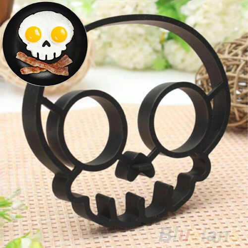 Goods.Site - Cute Silicone Skull Owl Egg Fried Shaped Mould Shaper Ring Kitchen Cooking Tool 2M7V