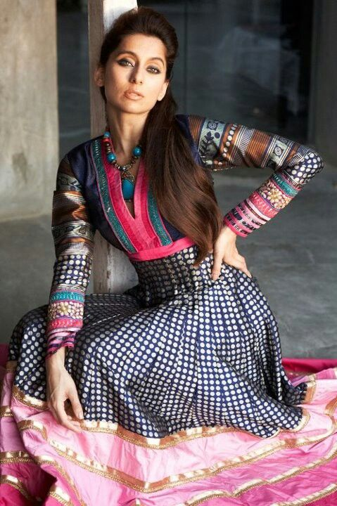 Indian anarkali..lov the combination actually