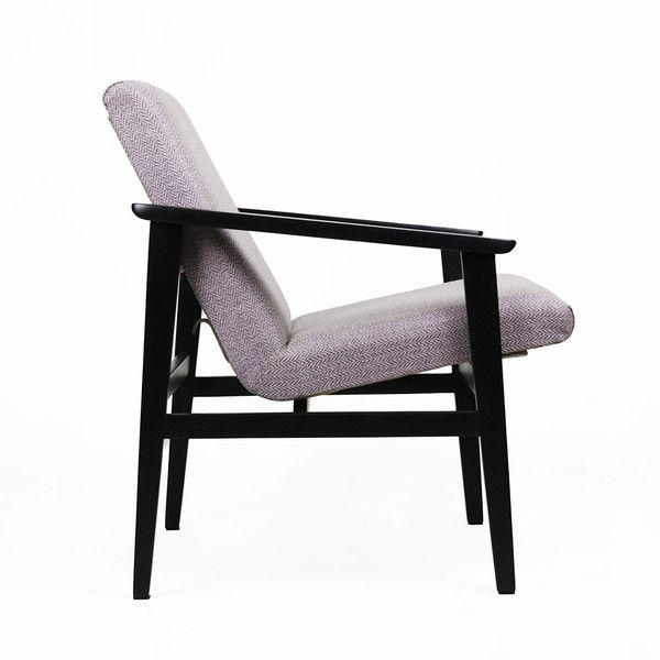 Fotel vintage / szaro-lawendowy