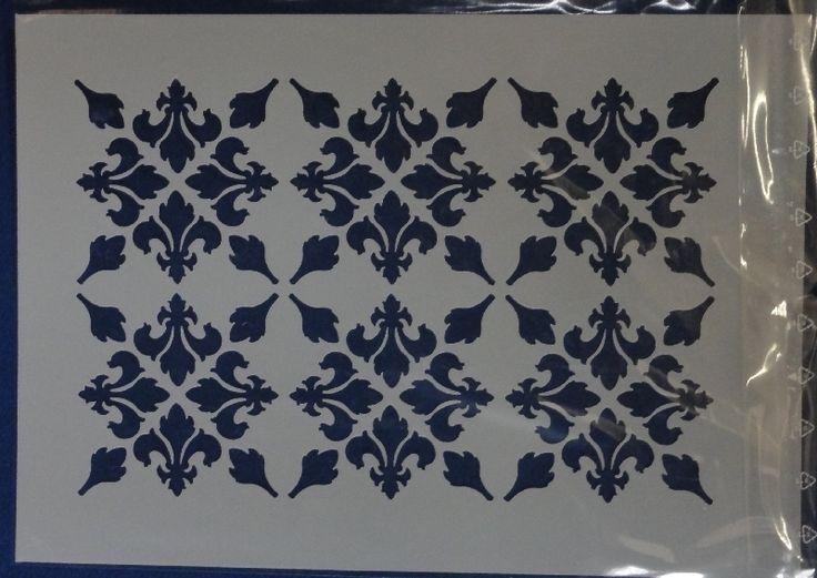Stencil Schablone Fleur Muster A4