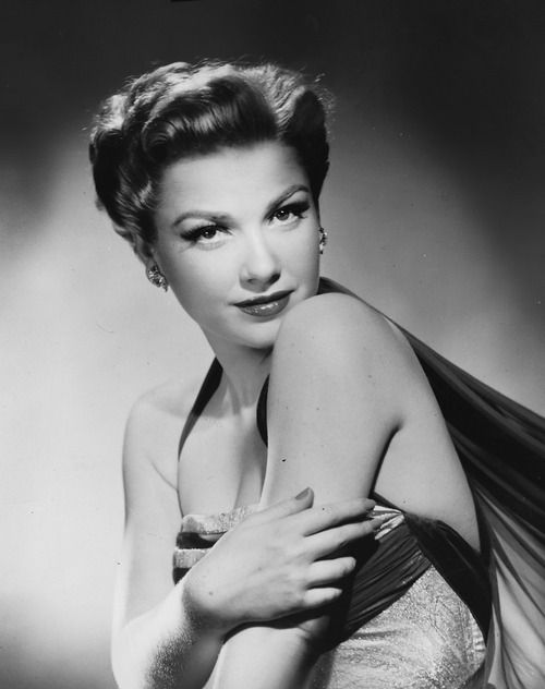 Anne Baxter (1923-1985) American actress known for her performances in films such as ALL ABOUT EVE, THE TEN COMMANDMENTS, THE RAZOR'S EDGE, THE MAGNIFICENT AMBERSONS and THE BLUE GARDENIA. Granddaughter of the famous architect Frank Lloyd Wright.  She was a lifelong friend of Edith Head.  Her first husband was actor, John Hodiak, with whom she had a daughter.