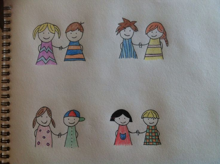Venner farvelagt - friends with color